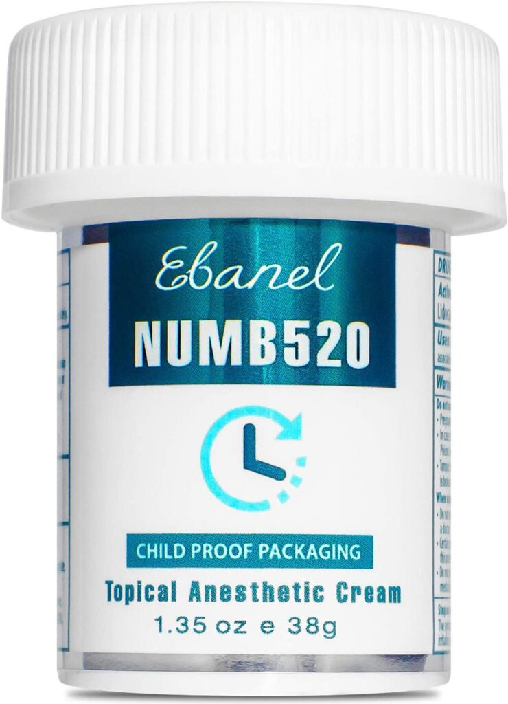 Ebanel 5% Lidocaine Topical Numbing Cream Maximum Strength - Best Tattoo Numbing cream