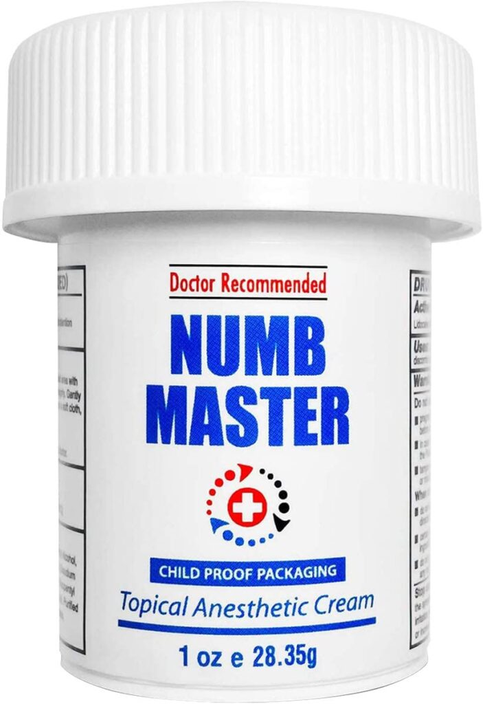 Numb Master 5% Lidocaine Best Topical Numbing Cream