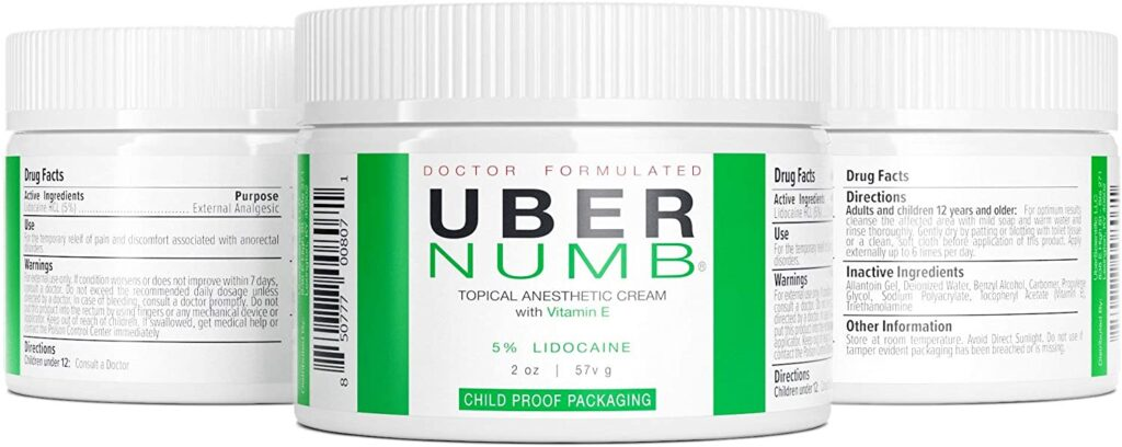 Uber Numb Lidocaine Topical Numbing Cream